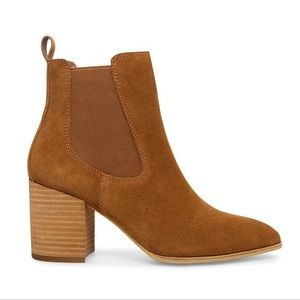 Steve Madden Addy Chelsea Boots Cognac 7.5